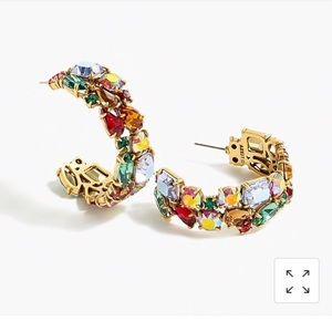 J. Crew NWT Crystal Cluster Earrings